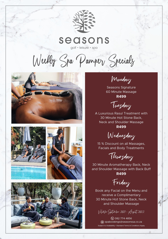 Seasons Spa Weekly Promo